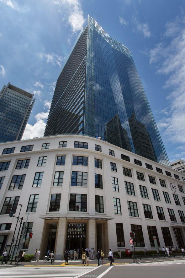 旧東京中央郵便局を改装した「JPタワー」。地下1階から地上6階までが「KITTE」
