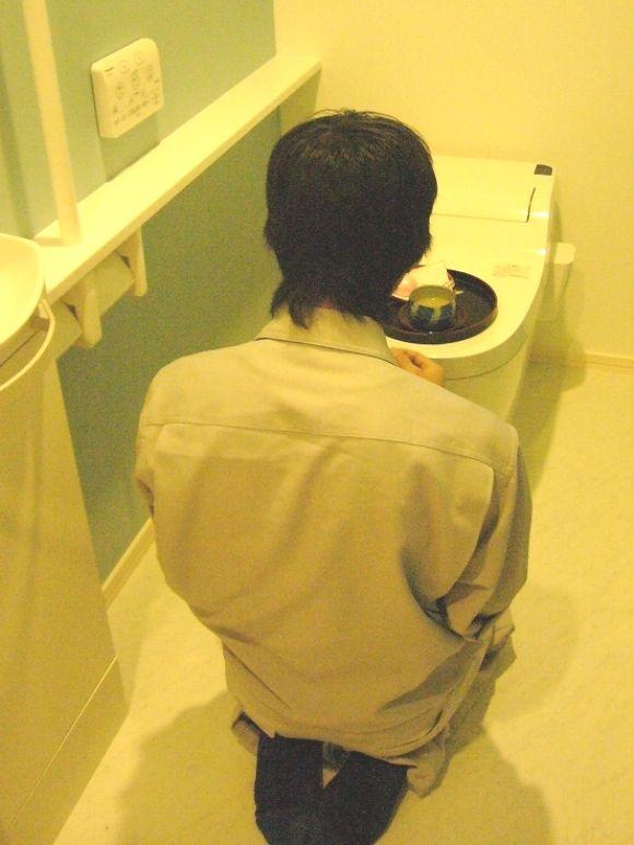 トイレ開き(NDOメンバーブログより)