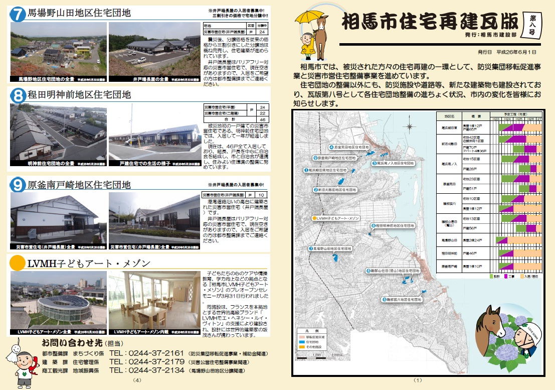 2014年6月1日発行、相馬市住宅再建瓦版第8号(相馬市ウェブサイトより)