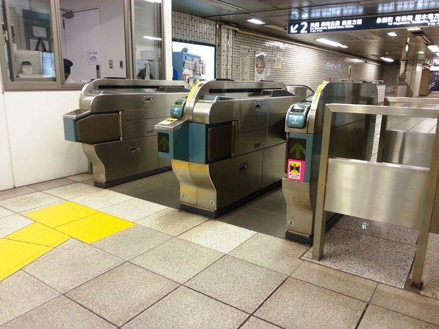 東京メトロ麹町駅の自動改札機(編集部撮影)