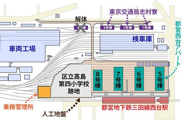 都営西台アパート周辺のマップ