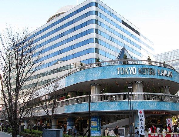 ふるさと回帰支援センターが入居する東京交通会館はJR有楽町駅前。