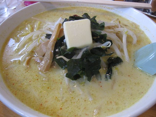 味噌カレー牛乳ラーメン(Khoshi3さん撮影、Wikimedia Commonsより)