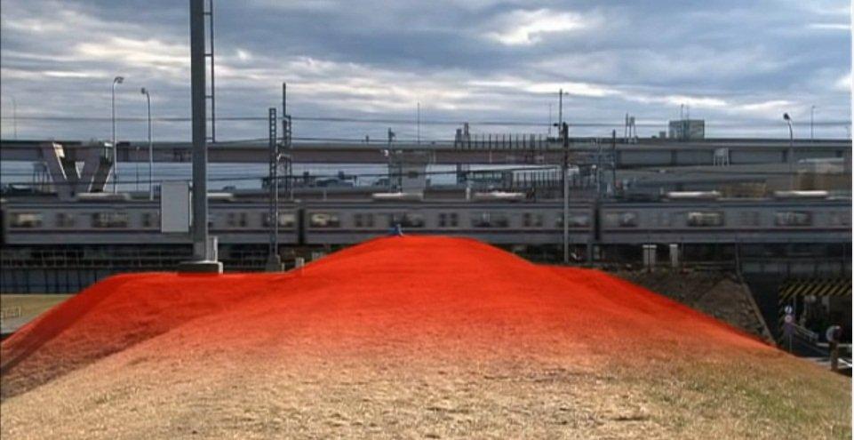 荒川放水路に架かる京成本線の鉄道橋(フィクションドキュメンタリー「荒川氾濫」より)