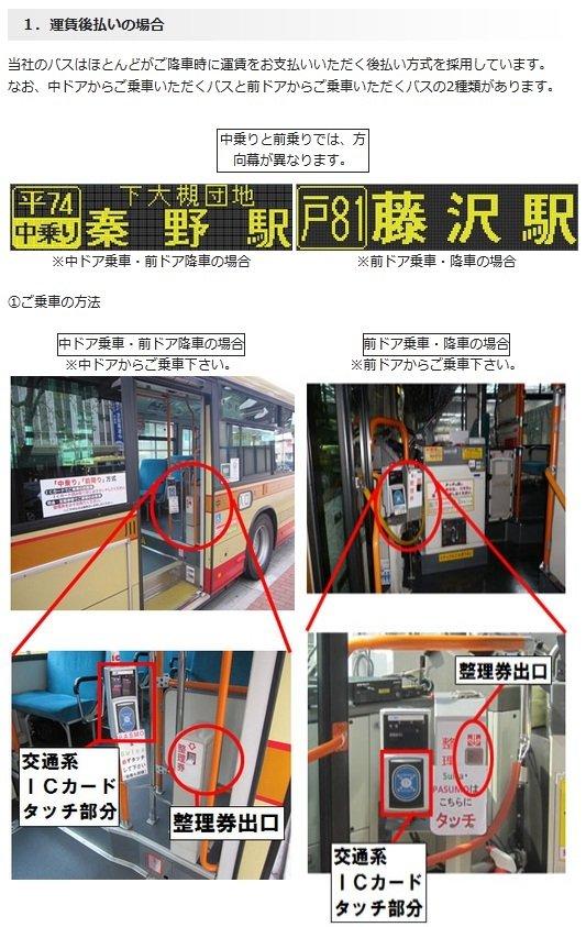 かなちゅうバスの乗り方例(公式サイトより)