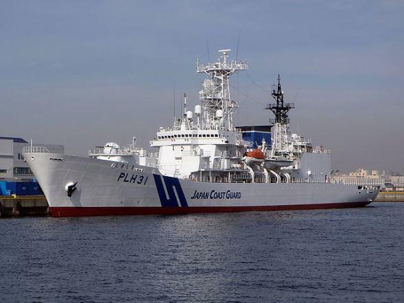 海上保安庁巡視船「しきしま」。写真はイメージ(shampoorobotさん撮影,Wikimedia Commonsより)