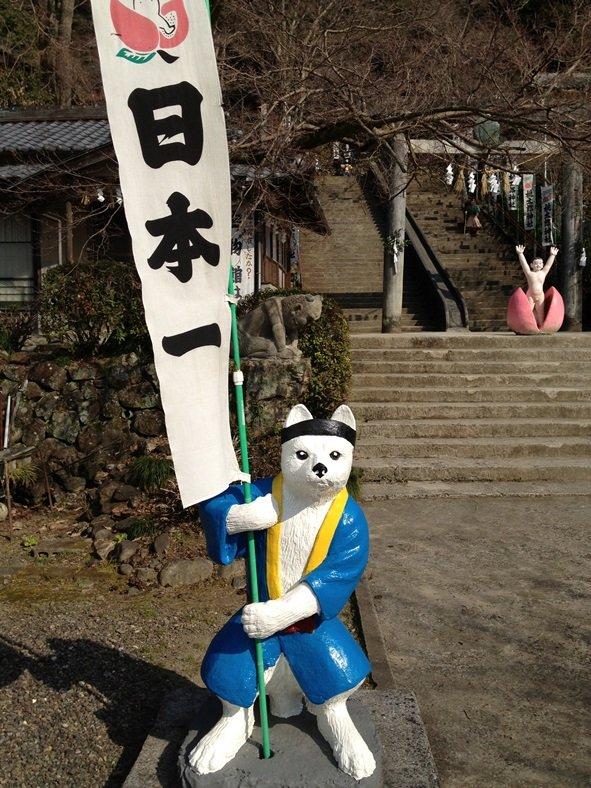桃太郎神社 犬の像(画像提供:犬山市観光協会)