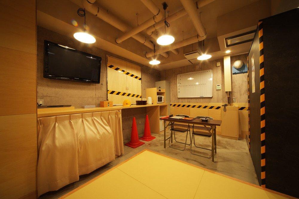 工事現場の事務所をイメージした205号室。2つ星