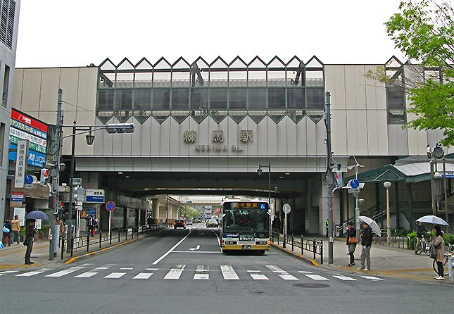 高架化された練馬駅