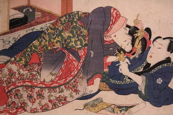 渓斎英泉「あぶな絵 源氏物語」
