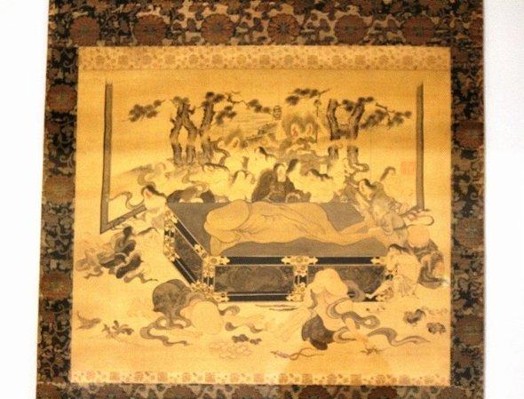 男性器の葬式の様子を描いた「陽物涅槃図」