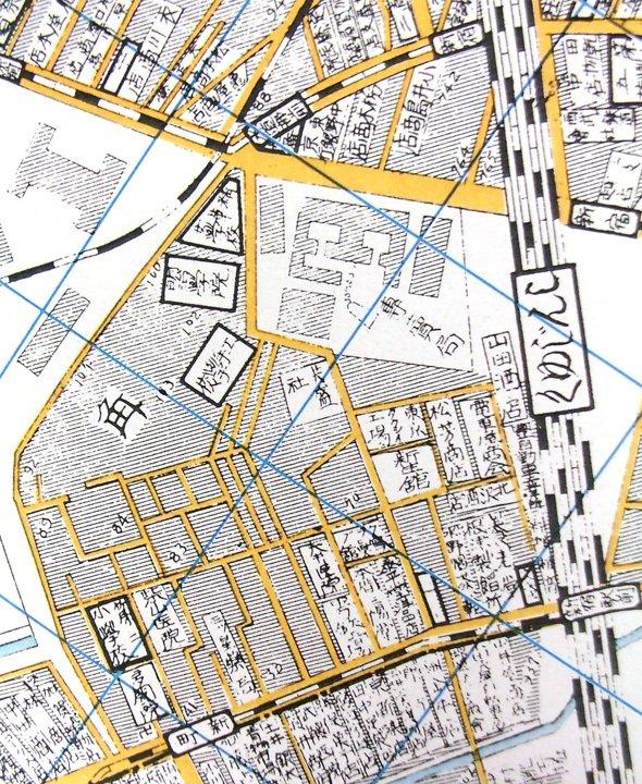 「新宿区地図集-地図で見る新宿区の移り変わり 淀橋・大久保編」(東京都新宿区教育委員会)に掲載されている、1925年の新宿駅西口。