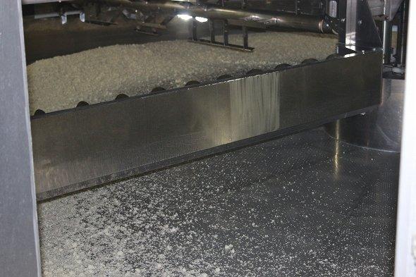 まだ米を投入したばかりの製麹機