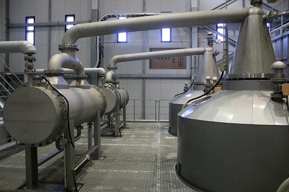 縦型の蒸留器