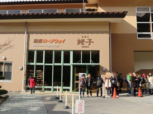 姥子駅には代行バス待ちの列が