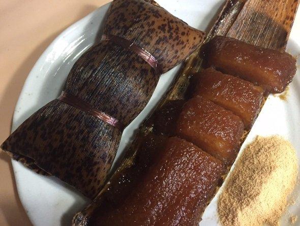 鹿児島・寿屋のあくまき(かごしま遊楽館で購入、編集部撮影)