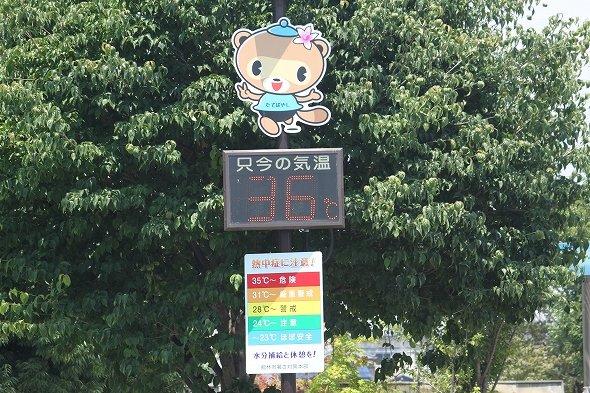 「36度」って!!