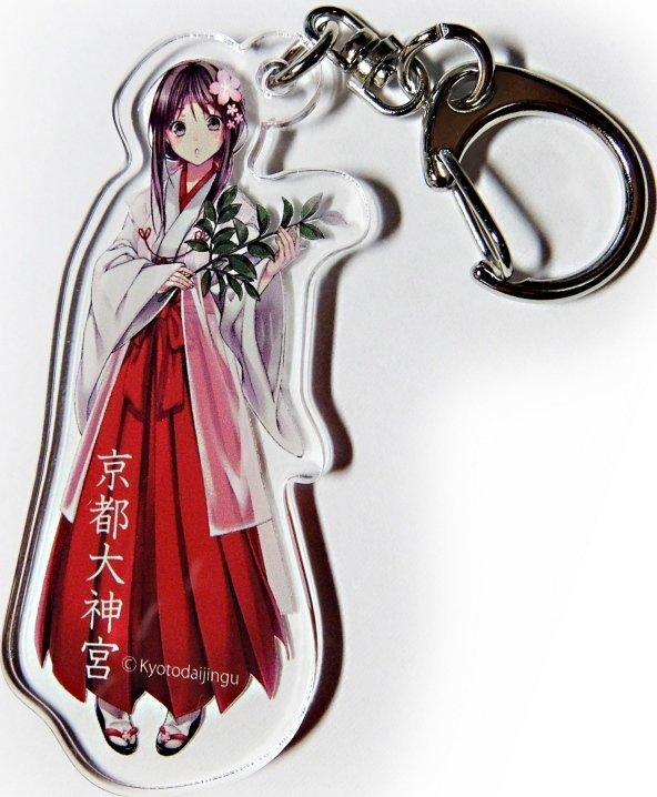 萌えキャラ「MIKO」さんのキーホルダー(京都大神宮ブログより)