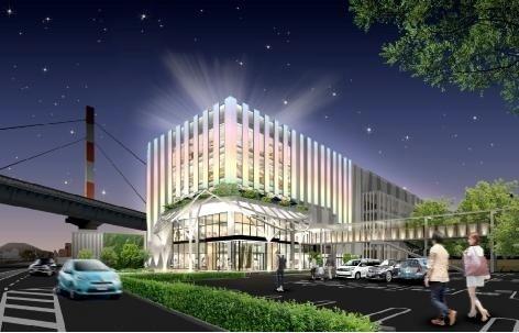 LEDの街・徳島の新たなシンボル「イオンモール徳島」(イオンモール報道資料より)
