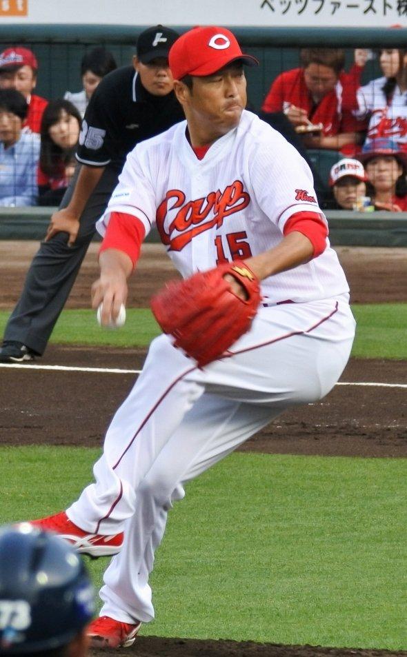 黒田博樹投手(UCinternationalさん撮影、Wikimedia Commonsより)