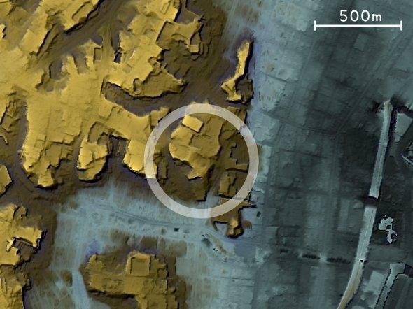 大山顕さん作成。東京のある有名スポット周辺の地形図なのだが、あなたはどこだかわかるだろうか?