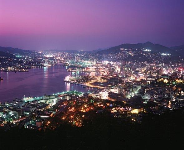 鍋冠山からの長崎夜景