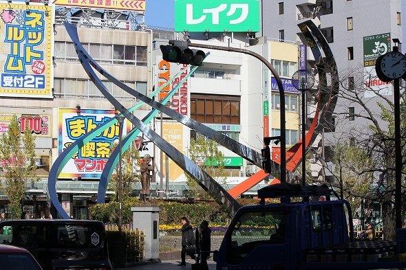 JR蒲田駅前広場にあるオブジェ