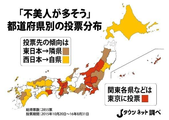 都道府県別の分布図