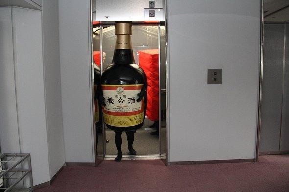 エレベーターもなんのその