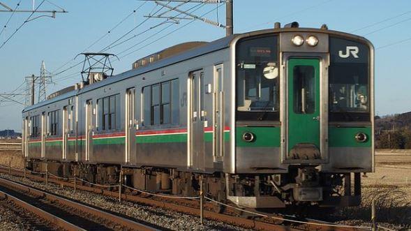 仙台地区の701系電車(TJ Takasakaさん撮影、Wikimedia Commonsより)