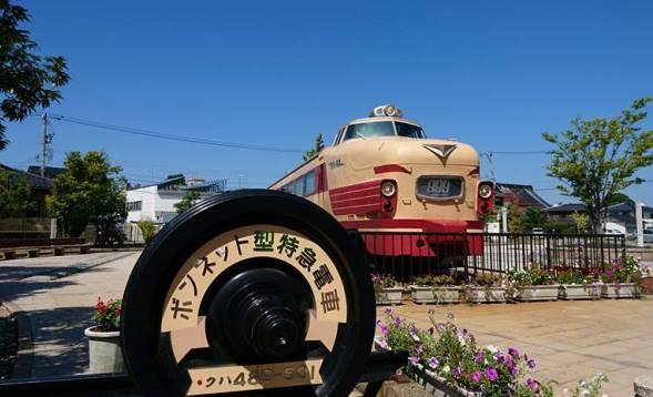 「土居原ボンネット広場」に展示されている、ボンネット型車両「クハ489-501」(「クハ489-501 ボンネット型特急電車」フェイスブックより)