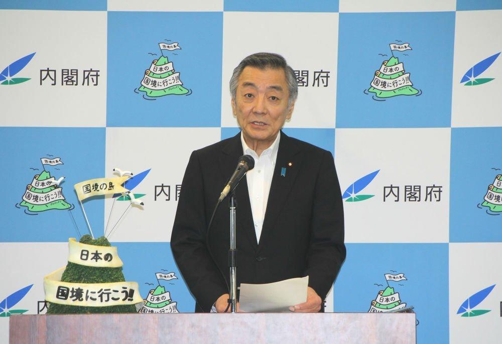 松本純・海洋政策担当大臣(Jタウンネット編集部撮影)