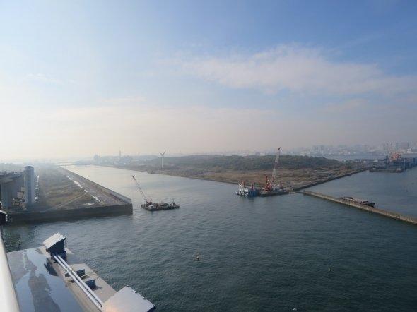 東京湾埋め立て地の「中央防波堤」