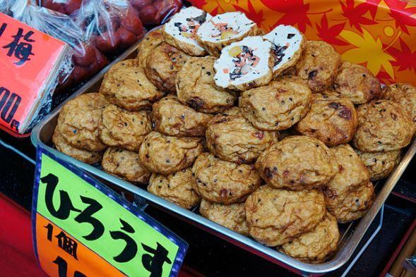 東大阪市で販売されていた「ひろうす(飛龍頭)」(663highlandさん撮影、Wikimedia Commonsより)
