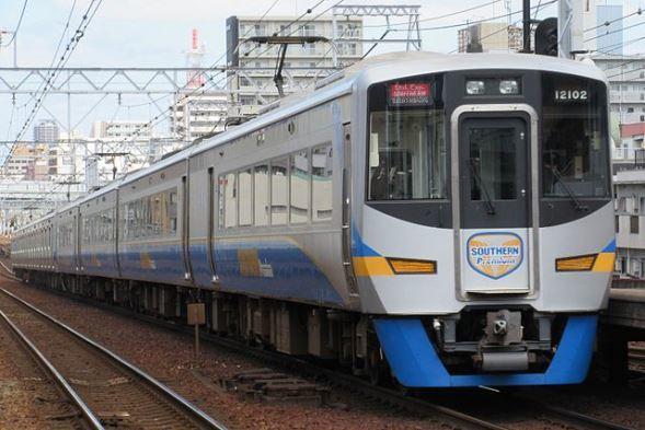 南海電鉄12102 (KishujiRapidさん撮影、Wikimedia Commonsより)