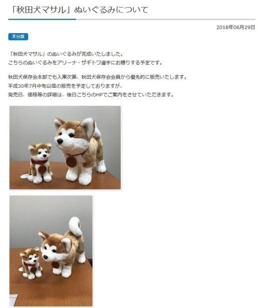 画像は「公益社団法人秋田犬保存会」のホームページより