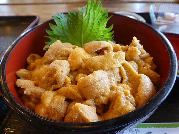 北海道のうに丼(切干大根さん撮影、Wikimedia Commonsより)