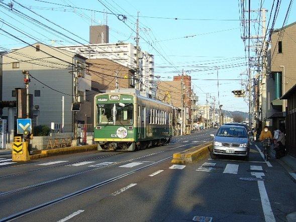 京福電鉄嵐山本線(Bakkaiさん撮影、Wikimedia Commonsより)