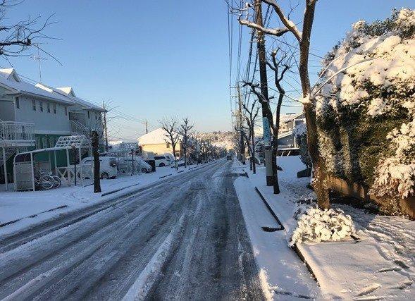 雪景色(写真は、Jタウンネット編集部撮影)