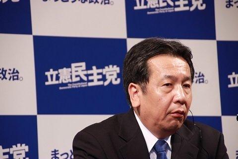 写真は枝野幸男立憲民主党代表(2017年10月撮影)
