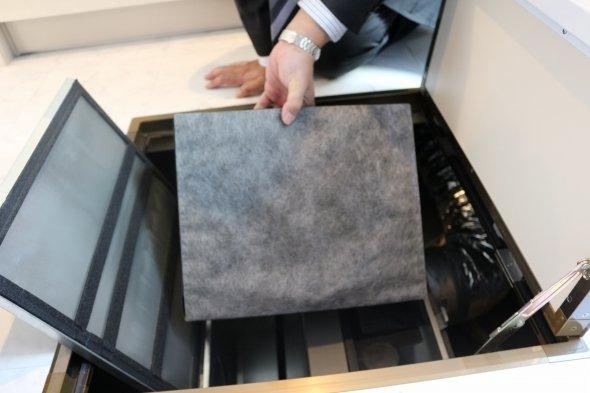 空気清浄フィルターは交換可能、花粉やPM2.5も除去