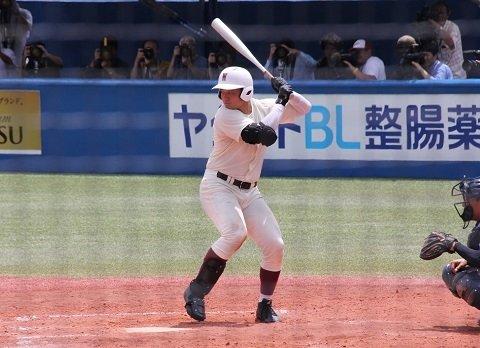 早稲田実業高校時代の清宮幸太郎選手(2017年7月撮影)