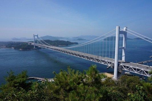 四国と本州をつなぐ瀬戸大橋である
