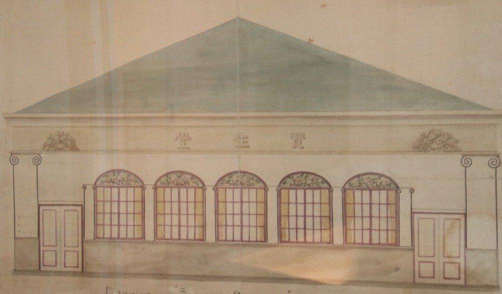 バラックの資生堂出雲町店の外観デザイン