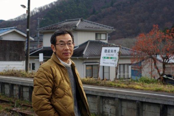 案内役を務めていただいた陸前高田市役所農林課の派遣職員(当時)、中丸勝典氏