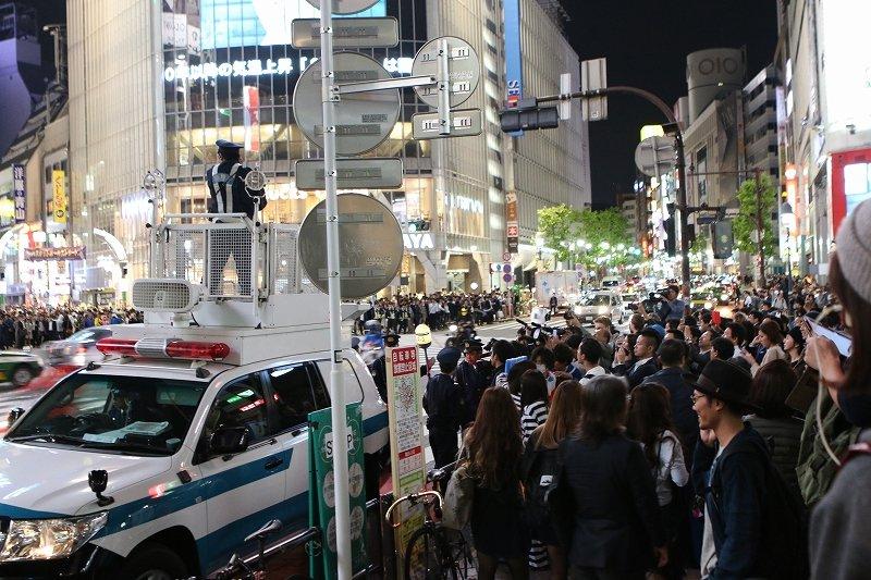 2015年10月30日の渋谷の様子(記者撮影)