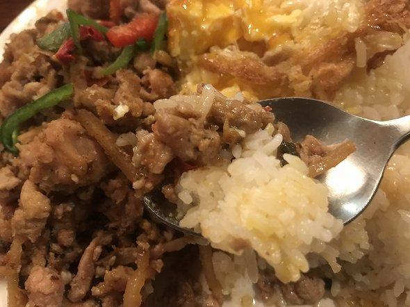 ガパオラッカオの米