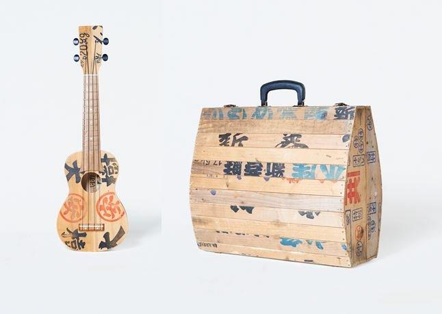 ARAMAKIシリーズの「シャケレレ」と「シャケバッグ」(画像はゲンカンパニー提供、以下同)