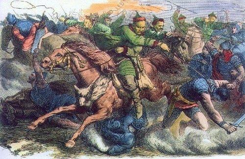 フン族を描いた19世紀の歴史画(Wikimedia Commonsより)