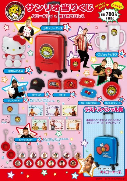 当りくじの詳細 (C)NJPW(C)1976, 2019 SANRIO CO.,LTD.